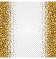 golden glitter abstract background tinsel shiny vector image vector image