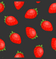 gorgeous seamless pattern with juicy strawberries vector image vector image