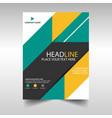 green yellow business brochure leaflet flyer vector image vector image