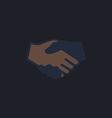 handshake computer symbol vector image vector image