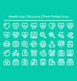 health line icon vector image vector image
