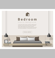 Interior design bedroom background 1 vector image vector image