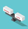 isometric work life balance vector image vector image