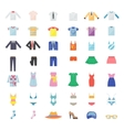 Large Set of Clothing Icons vector image vector image