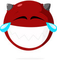 laughing face vector image