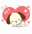 lovely dog sleeping vector image vector image