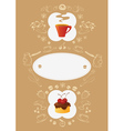 Menu Card Template vector image vector image
