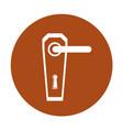 modern door handle icon vector image vector image