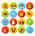 New Year Flat Icons vector image vector image