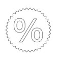 percent symbol icon design vector image