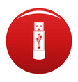 portable flash drive icon red vector image vector image