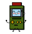 portable videogame console cute kawaii cartoon vector image vector image