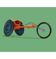 Racing wheelchair disabilities vector image