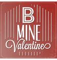 Romantic Typographic Valentines Day Quote vector image
