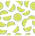 Seamless sliced lime pattern vector image vector image