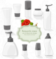 Set cosmetic bottles of different shapes vector image vector image