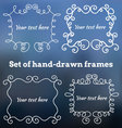 set hand-drawn frames vector image vector image