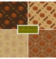 Set of four spicy seamless patterns vector image