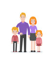 set of people character family concept vector image vector image