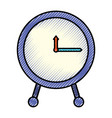 silhouette of colored pencils of clock icon vector image vector image