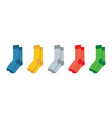socks for adults and children colorful rainbow vector image vector image