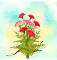 Springtime Red Carnation Flower Background vector image vector image