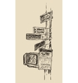 Street Sign in New York Broadway Times Square vector image
