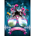 Summer beach party flyer design with speakers vector | Price: 3 Credits (USD $3)