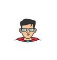 super hero geek head logo vector image vector image