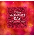 Tender floral red Valentines Day card design vector image vector image