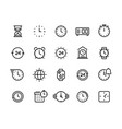 time line icons clock calendar timer watch vector image