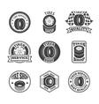 Tires label icon set vector image vector image