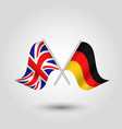 two crossed british and german flags vector image vector image