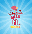 valentines day sale 60 percent typographic vector image vector image