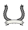 wreath crown emblem icon vector image vector image