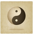 Yin yang old background vector image vector image