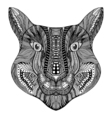 Zentangle stylized Tiger face vector image vector image