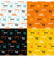 halloween lettering seamless patterns vector image