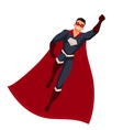 Superhero man in cape and usual clothes vector image