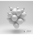 3d abstract spheres vector image vector image