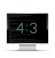 4 to 3 monitor white background vector image vector image