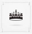a big black crown vector image vector image