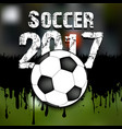 abstract background soccer 2017 vector image vector image