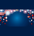 american flag and balloon with copy space vector image vector image