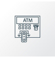 atm icon line symbol premium quality isolated vector image