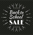 back to school typographic logo vector image