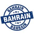 bahrain blue round grunge stamp vector image vector image