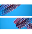 banner with purple paint brush strokes vector image vector image