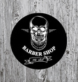 Barber shop label icon vector image