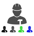 builder person flat icon vector image vector image